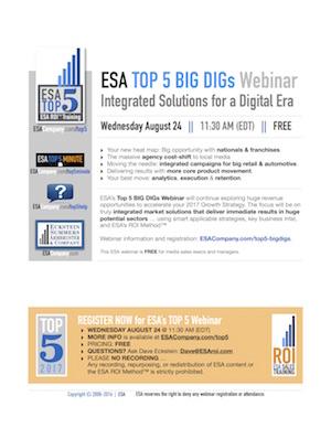 ESA's Top 5 Webinar